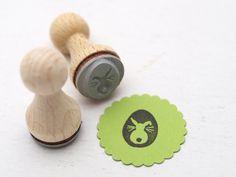 Geschenkverpackungen - Mini-Stempel, ø 1,5 cm I Osterhase - ein Designerstück von STAMPelART bei DaWanda