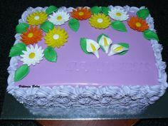 Bolo com flores, virágos torta