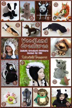 Woodland Creatures | Animal Crochet Pattern Round Up via @beckastreasures