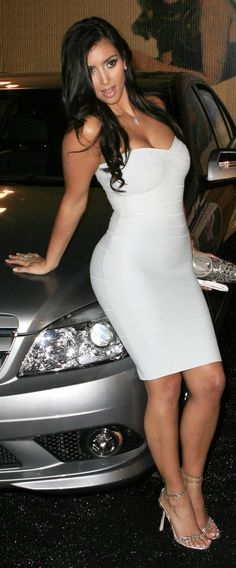 Kim Once Backed That Thing Up Onto a Car