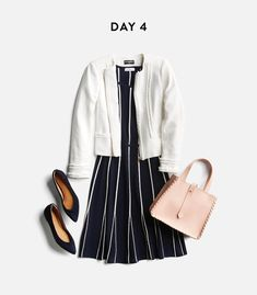 I love this combo. Dress looks like a black one I own, with that swing in the skirt. Lovely! And I really like the sweater/jacket and flats :)