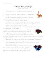 Tortoise, Hare, and Eagle -SecondGrade Reading Comprehension Test: Use theinformationin thestorytoanswerthe 5 comprehension questions. Answer Key IsIncluded.    Tortoise, Hare, and Eagle-SecondGrade Reading Comprehension Test – Click Here    Information: Second Grade Reading Comprehension. 2nd Grade Reading Comprehension Test Practice Worksheet.