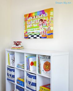 colorful wall art for kids