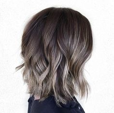 60 Shades of Grey: Silver and White Highlights for Eternal Youth - Ash Brown Highlights For Dark Brown Bob - Ash Brown Highlights, Color Highlights, Brunette Highlights, Silver Hair Highlights, Balayage Highlights, Grey Brown Hair, Brown Blonde, Dark Brown Short Hair, Dark Red
