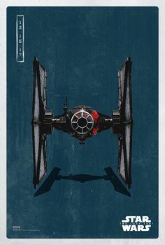 Star Wars: The Last Jedi Pop Icon Posters - First Order Tie Fighter Star Wars Fan Art, Star Trek, Rpg Star Wars, Film Star Wars, Nave Star Wars, Star Wars Ships, Star Wars Poster, Poster Poster, Images Star Wars