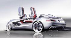 Concept Car sketch: the Mercedes McLaren SLR Stirling Moss.