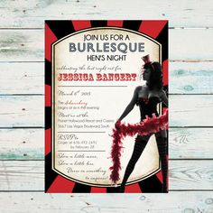Printable Burlesque Hen's Night Invitation  by BeyondDigital