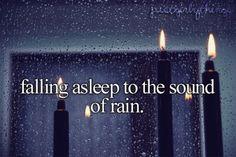 falling asleep to the sound of rain