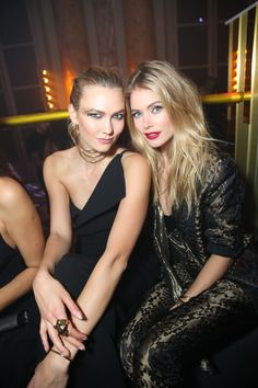 Inside the L'Oreal Gold Obsession Party in Paris Photos | W Magazine