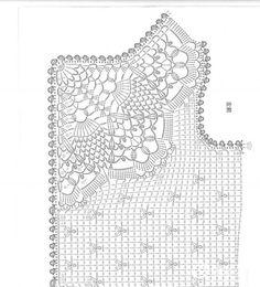 Crochet Knitting Handicraft: jacket for girls Crochet Diagram, Crochet Motif, Crochet Doilies, Crochet Stitches, Crochet Patterns, Gilet Crochet, Crochet Shirt, Crochet Jacket, Knit Crochet