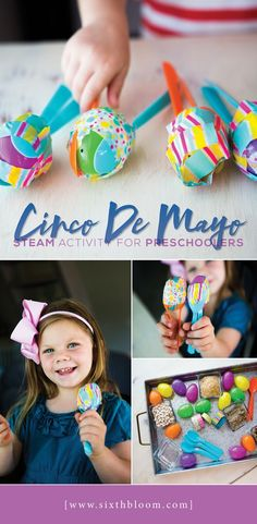 Teaching a Cinco De Mayo Preschool STEAM Activity? This tutorial will show you how to engineer and build maracas with your preschoolers. How to Make Easter Egg Maracas with your preschoolers using easter eggs while learning to make a musical instrument. Kids Crafts, Toddler Crafts, Preschool Crafts, Projects For Kids, Art Projects, Clay Crafts, Steam Activities, Preschool Activities, How To Make Maracas