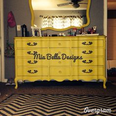 French provincial dresser painted in cece Caldwell paints!