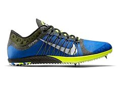 050919039c385 Nike Zoom Victory XC Cross Country Distance Spikes Mens Size 6.5 Blue Volt  Black Womens 8