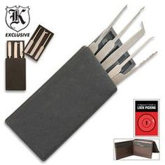 Never know when you might need to get into a locked door. Secure Pro Credit Card Lock Pick Set