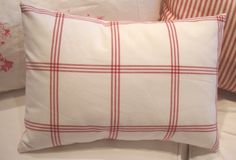 SWeDish CoTTaGe ReD and White Check Pillow by Sassycatcreations, $35.00