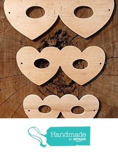 Fantastic Set Of 3 Different Sized Hand Crafted MDF Fancy Dress Mask Drawing Templates - Heart Shaped - Great For Valentines Day! from The Andromeda Print Emporium https://www.amazon.co.uk/dp/B01KBMMJU0/ref=hnd_sw_r_pi_dp_tlRRxbZX45Y7V #handmadeatamazon