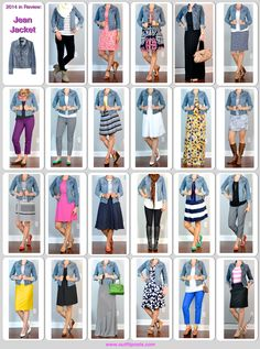 Since 1974, I don't know what I would do without my jean jacket! 2014 in review - outfit posts: jean jacket - 23 ways
