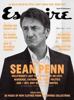 Sean Penn clad in #GiorgioArmani for the March cover of Esquire UK.