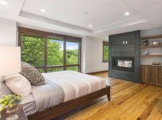 Master bedroom with wood frame windows Skylight Window, Egress Window, Wood Windows, Casement Windows, Arched Windows, Bay Window, Single Hung Windows, Luxurious Bedrooms, Luxury Bedrooms