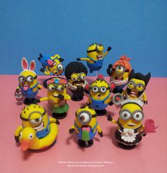 diy craft minions clay figures, a great bunch of new toys for your child