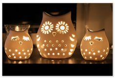 Owl tea light holder                                                                                                                                                                                 More
