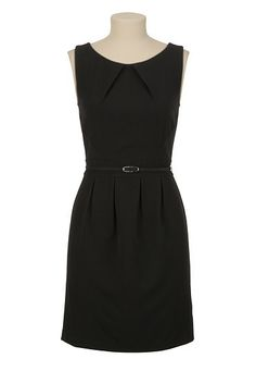 Belted Scoop Neck Sheath Dress available at #Maurices