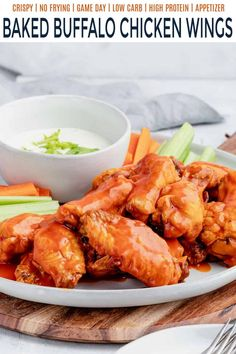 Juicy and tender chicken wings are seasoned to spicy perfection and smothered in your favorite buffalo sauce. These Classic Baked Buffalo Chicken Wings will have you shamelessly licking your fingers! Buffalo Chicken Sauce, Baked Chicken Wings, Baked Buffalo Wings, Healthy Eating Recipes, Healthy Eats, Wing Recipes, Easy Chicken Recipes, Fingers, Spicy