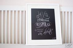 Lámina Lil'O LaVidaNoSeMide #casasconmensaje #laminas #quotes #carteles #cosasbonitas #quenadietedigahastadonde #lilomola www.lilomola.com