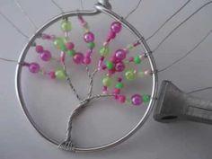 ▶ Tuto Arbre de vie en fil alu et perles - YouTube