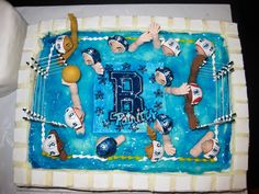 Need to make a water polo cake next month.  This looks like a possible inspiration one.