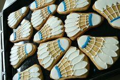 badminton cookies♥ Like Mrs. Shuttle Badminton, Badminton Club, Badminton Games, Crazy Cookies, Cute Cookies, Cupcake Cookies, Badminton Photos, Theme Sport, Fondant Decorations