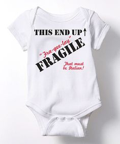 $9.99 marked down from $19! White 'This End Up' Bodysuit - Infant #zulilyfinds