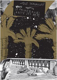 Sérigraphie 70x100 Doré brillant et noir Mat. Éditée à 20 exemplaires. Formes vives. Impression Lézard graphique