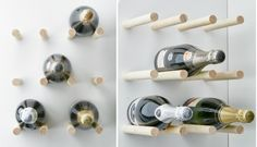 Tee itse helppo mutta sitäkin tyylikkäämpi teline viinipulloille Cello-pyörölistasta!