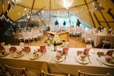 teepee wedding reception