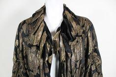 1920sGold Lamé and Black Velvet Coat image 5