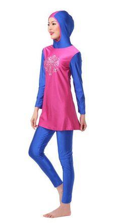 Hard-Working Modest Muslim Swimwear Islamic Swimsuit Women Hijab Swimwear Full Cover Muslim Swimming Beachwear Swim Suit Clothes Set Year-End Bargain Sale Strollers Accessories