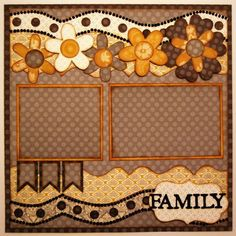 Family 1-page layout Brought To You By The Letter {J} Kiwi Lane Designs #scrapbooking101