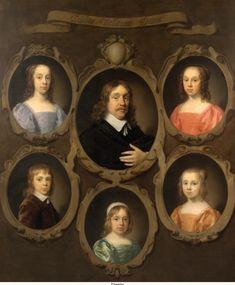 Ceulen, Cornelis Jonson van - Портрет Jan Beck (N-1676), мэра Мидделбурга и его пятерых детей, 1650, 181,5 cm x 151,5 cm, Холст, масло