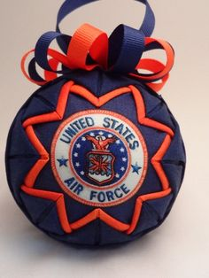 Quilted Ornament - Air Force - Patriotic - Handmade Fabric Ornament. $15.00, via Etsy.