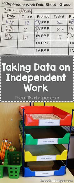 Get your independent data collection flow going with our tips from theautismhelper.com! From theautismhelper.com #theautismhelper