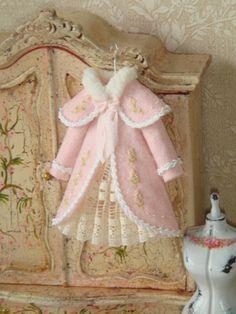 OOAK-Dollhouse Girl  coat on hang. 1:12 Girl by ANABELAMINIATURES