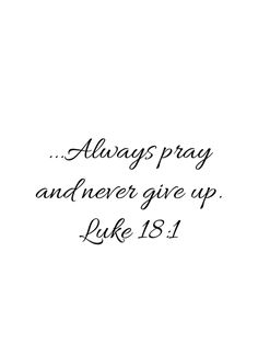 One day Jesus told his disciples a story to show that they should always pray and never give up.