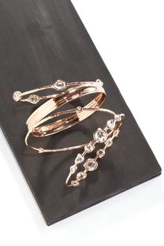 Layered bangles #Saks #accessories #bracelets #gold