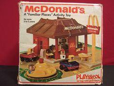 Vintage 1974 Playskool McDonald's Playset Complete Box