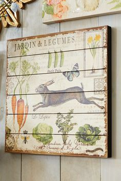 Everything is coming up spring at Pier 1. Floral, bunnies and garden-fresh finds. With French text, our wall decor creates a springtime story that's perfect for giving your home a sense of the season. French Decor, French Country Decorating, Somebunny Loves You, Decoupage, Spring Home, Rustic Wall Decor, Easter Crafts, Easter Decor, Illustrations