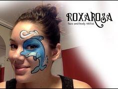 RoxaRosa face paint tutorial dolphin