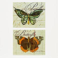 Butterfly & Papillon Plaques via World Market