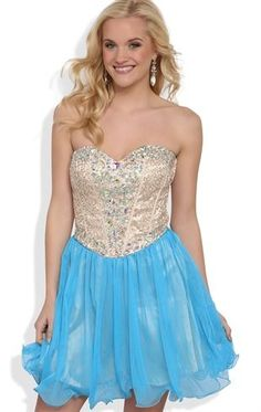 Deb Shops Short #Prom #Dress With Sequin Corset Bodice and Full Mesh Skirt $86.90
