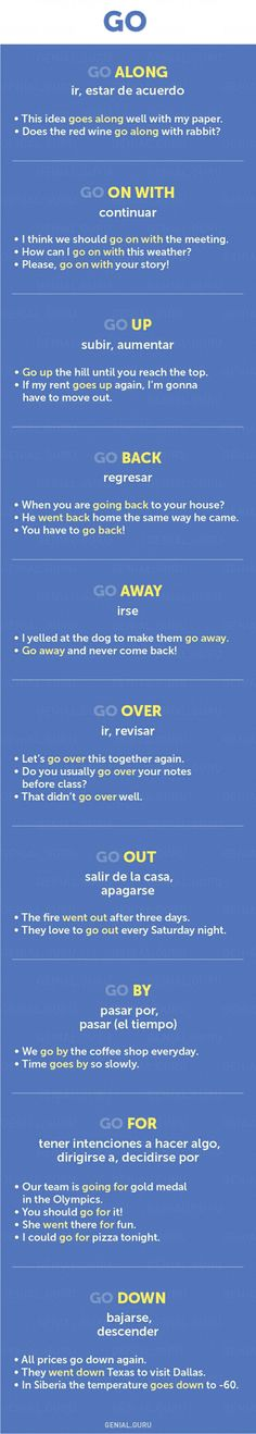 "Phrases that start with ""go"""